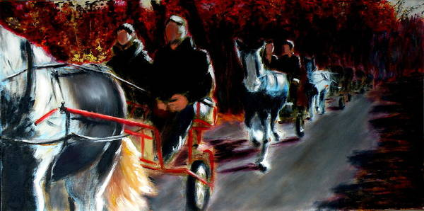 Lake District Painting - Horses And Carriages by Uma Krishnamoorthy