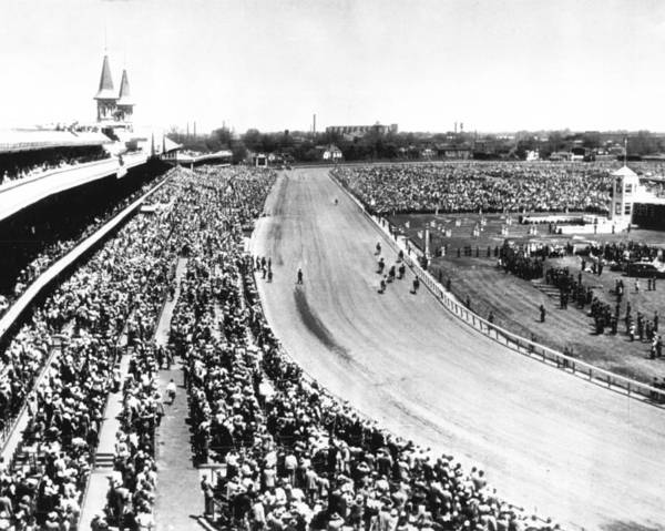 Wall Art - Photograph - Horses In Action At Vintage Churchill Downs Race by Retro Images Archive