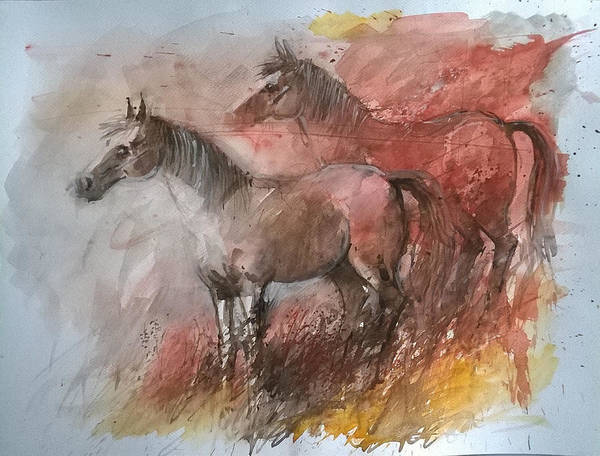 Painting - Horses by Lorand Sipos