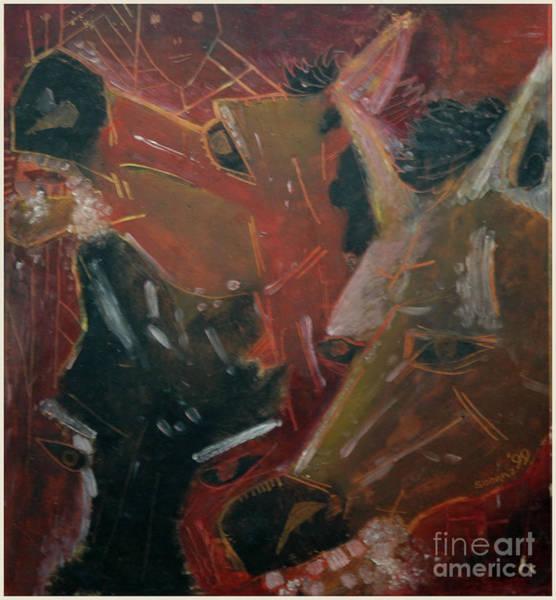 Kannan Painting - Horses by Sooraj Kannan