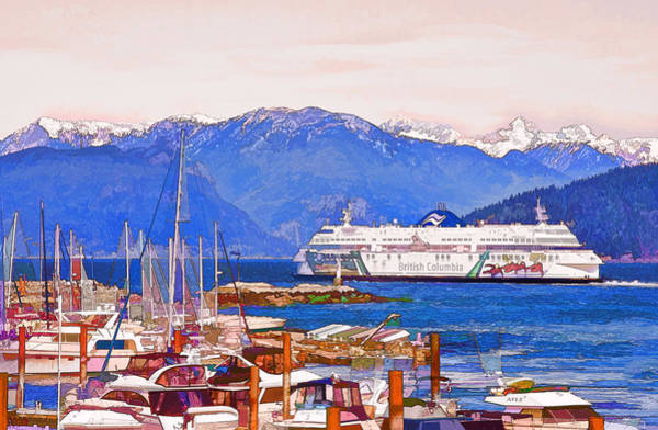 Photograph - Horseshoe Bay Ferry by Peggy Collins