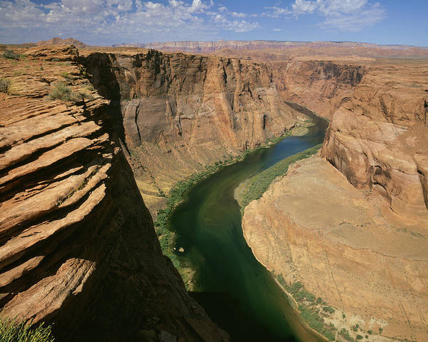 Alfresco Wall Art - Photograph - Horseshoe Bend Of Colorado River, Page by Tips Images