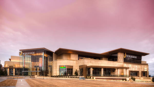 Photograph - Horseshoe Casino Red Dawn by Keith Allen