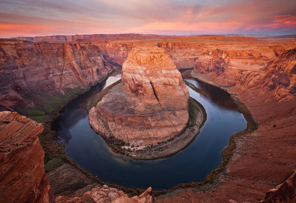 Deserts Photograph - Horseshoe Dawn by Mike  Dawson