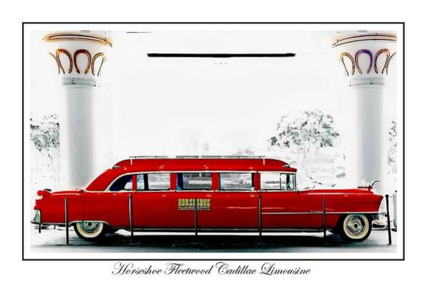Collector Car Painting - Horseshoe Fleetwood Cadillac Limousine by Barbara Chichester