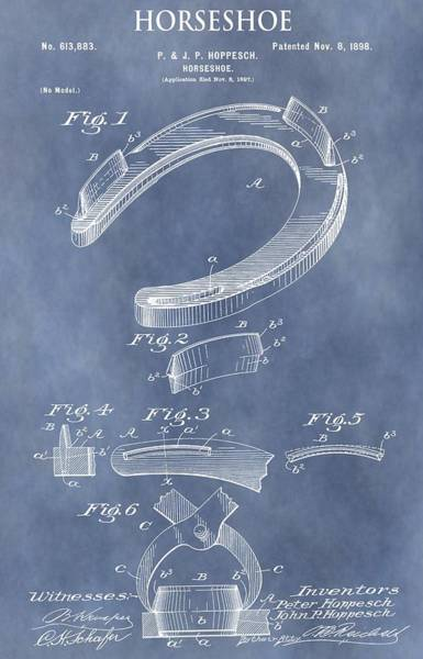 Mixed Media - Horseshoe Patent by Dan Sproul
