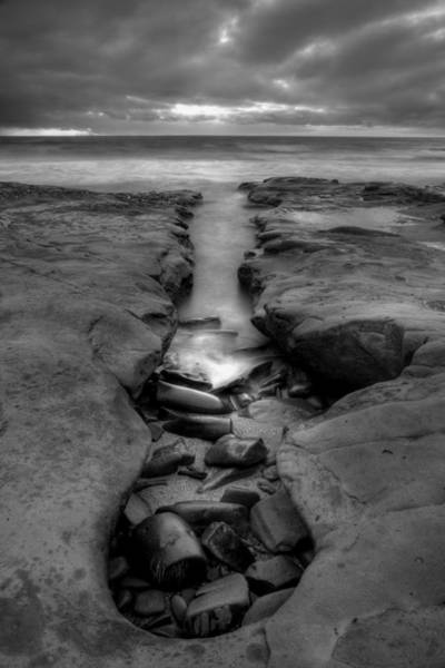 The Horseshoe Wall Art - Photograph - Horseshoes Beach  Black And White by Peter Tellone