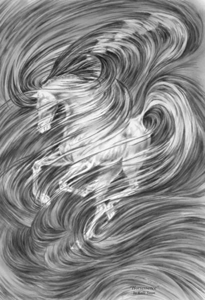 Drawing - Horsessence - Fantasy Dream Horse Print by Kelli Swan