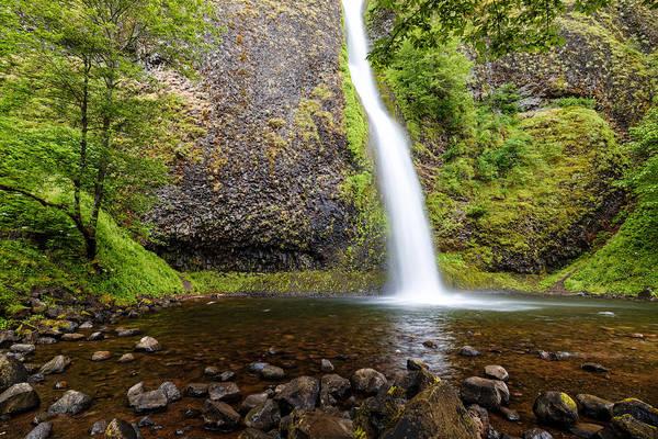 Wall Art - Photograph - Horsetail Falls - Columbia River Gorge Oregon by Silvio Ligutti