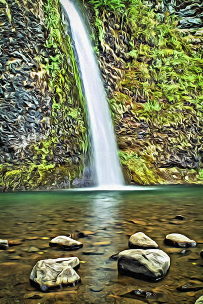 Digital Art - Horsetail Falls  by Patrick M Lynch