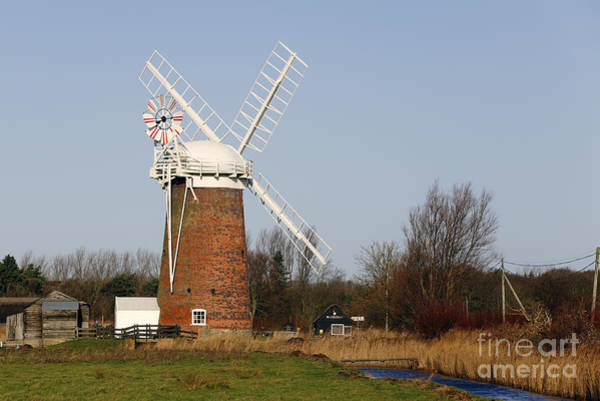 Photograph - Horsey Mill Wind Pump In Norfolk by Paul Cowan