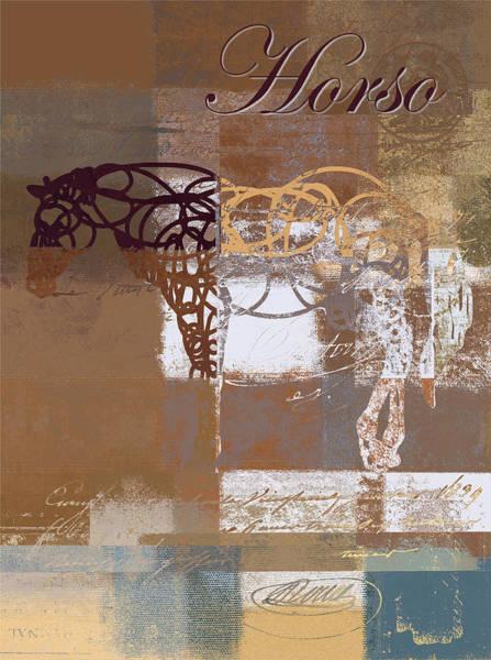 Wall Art - Digital Art - Horso - S03bgmc1tx by Variance Collections