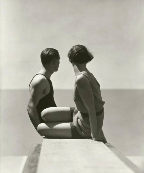 Two People Photograph - The Divers by George Hoyningen-Huene
