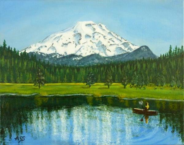 Painting - Hosmer Lake by Amelie Simmons