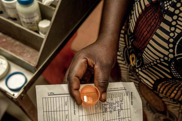 Developing Country Photograph - Hospital Drug Prescription by Mauro Fermariello/science Photo Library