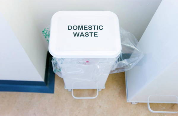 Rubbish Bin Photograph - Hospital Waste Bin by Gustoimages/science Photo Library