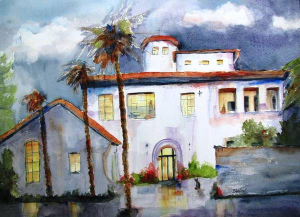 Spanish Missions Wall Art - Painting - Hospitality House by Carlin Blahnik CarlinArtWatercolor