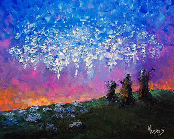 Illumination Painting - Host Of Angels by Mike Moyers