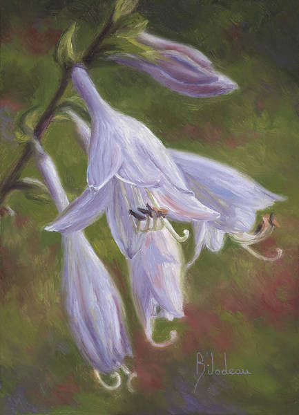 Painting - Hosta Flowers by Lucie Bilodeau