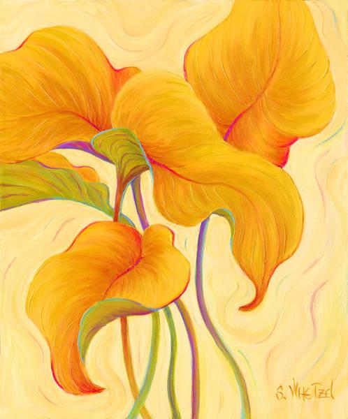 Art Print featuring the painting Hosta Hoofers by Sandi Whetzel