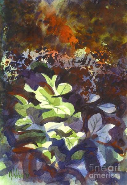 Painting - Hostas In The Forest by Kip DeVore