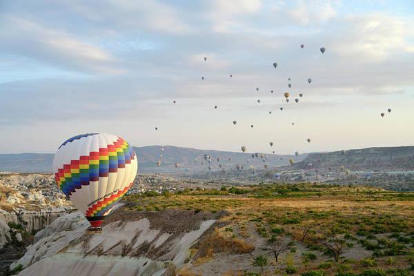 Geology Photograph - Hot Air Balloon, Cappadocia by Wibowo Rusli