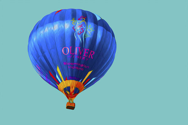 Balloon Festival Digital Art - Hot Air Balloon Digitally Painted 3 by David Haskett II