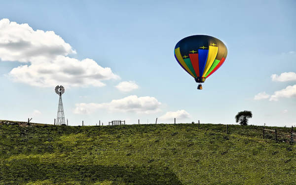 Photograph - Hot Air Balloon In The Farmlands by Bill Cannon