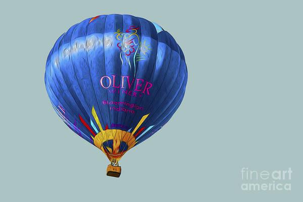 Balloon Festival Digital Art - Hot Air Balloon Painted  by David Haskett II