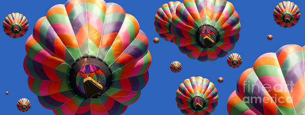 Soar Photograph - Hot Air Balloon Panoramic by Edward Fielding