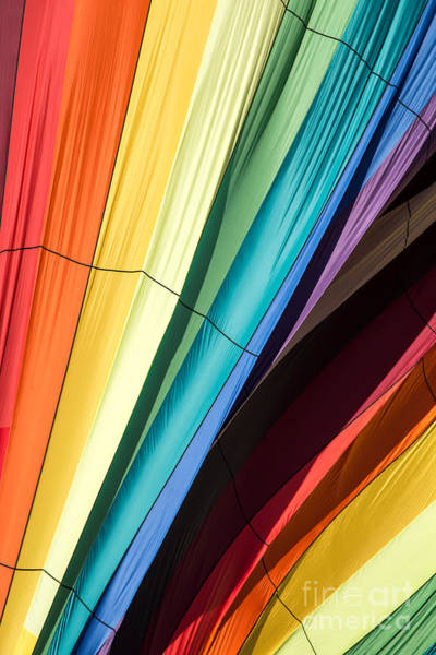 Primary Colors Photograph - Hot Air Balloon Rainbow by Edward Fielding
