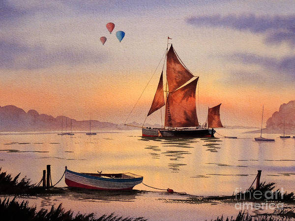 Wall Art - Painting - Hot Air Ballooning by Bill Holkham