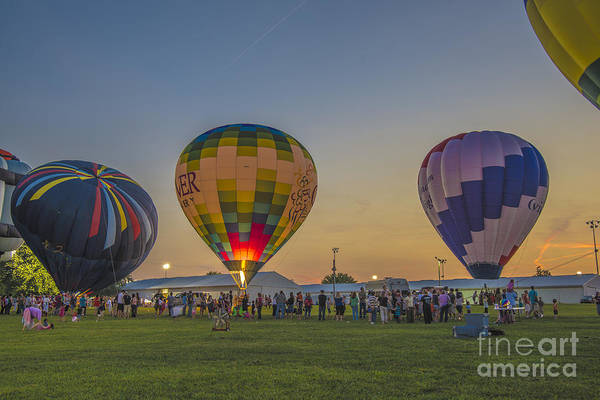 Photograph - Hot Air Balloons 10 by David Haskett II