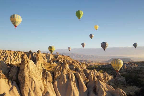 Cappadocia Photograph - Hot Air Balloons At Dawn, Cappadocia by David Clapp