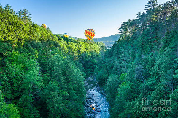 Photograph - Hot Air Balloons Over Quechee Gorge by Susan Cole Kelly