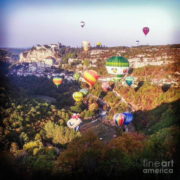 Balloon Festival Photograph - Hot Air Balloons Rocamadour by Colin and Linda McKie