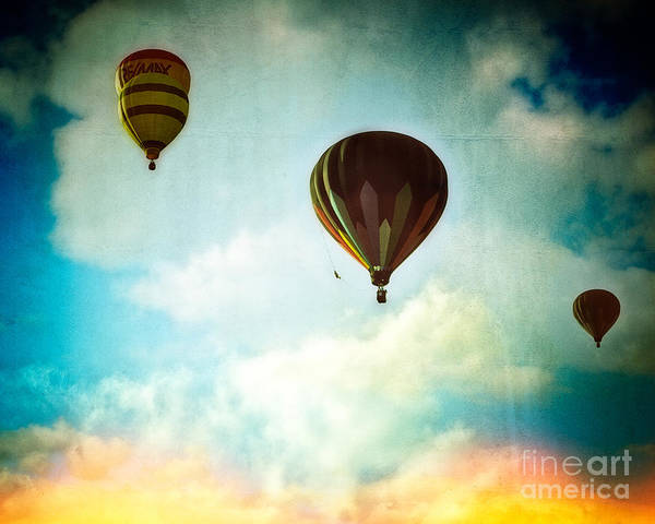 Photograph - Hot Air Baloons In Blazing Sky by Eleanor Abramson