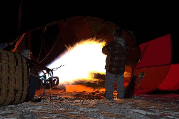 Posterize Photograph - Hot Air Fire by Kathy Bassett