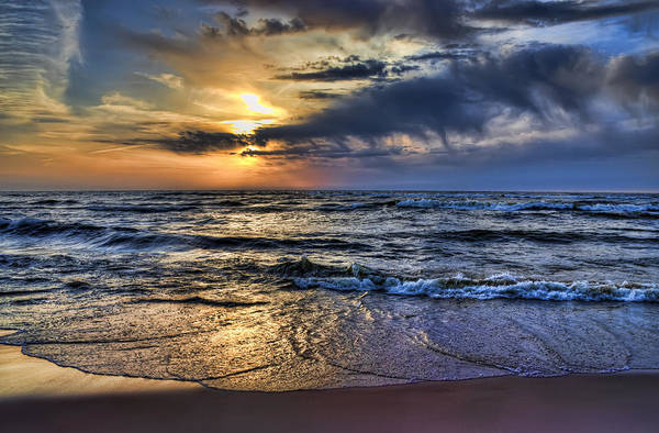 Hot April Sunset Saugatuck Michigan Art Print