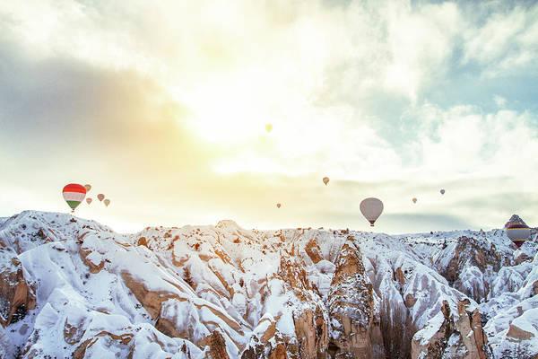 Cappadocia Photograph - Hot Balloon In The Morning by Shan.shihan