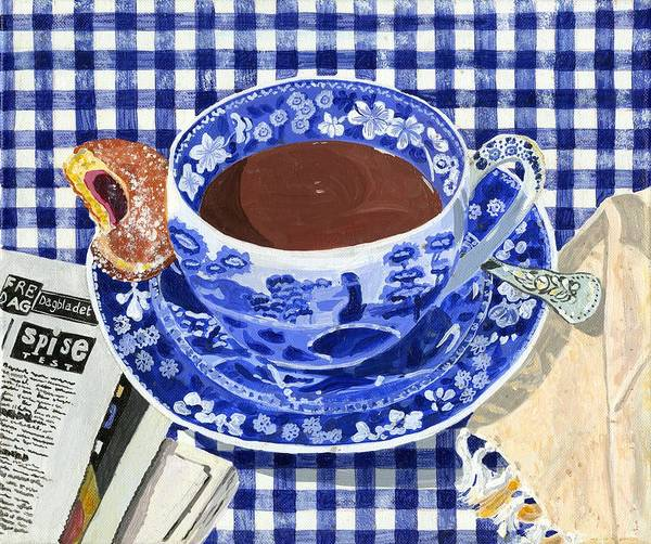 Doughnut Painting - Hot Chocolate by Jane Dunn Borresen