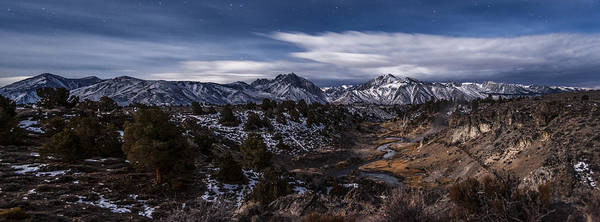 Eastern Sierra Photograph - Hot Creek At Night by Cat Connor