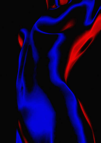 Wall Art - Painting - Hot Curves Cold Light by Steve K