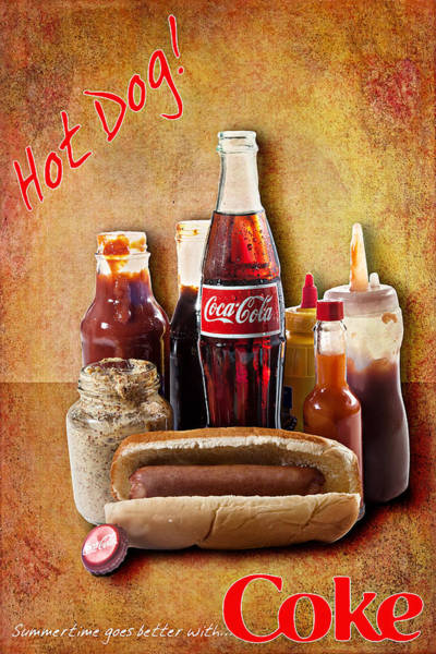 Photograph - Hot Dog And Cold Coca-cola by James Sage