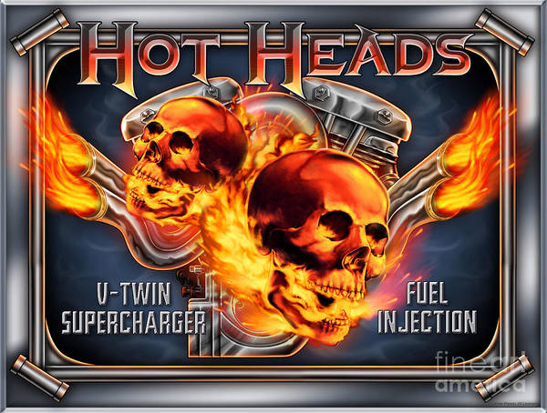 Painting - Hot Heads by JQ Licensing