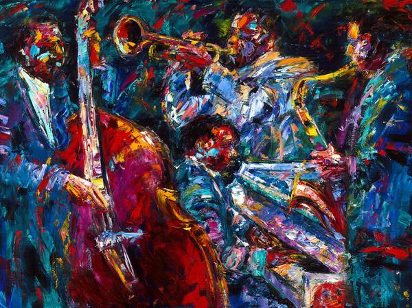 Piano Music Painting - Hot Jazz by Debra Hurd