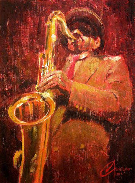 Sax Painting - Hot Jazz I by Christopher Clark