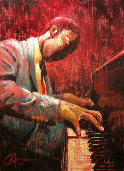Sax Painting - Hot Jazz II by Christopher Clark