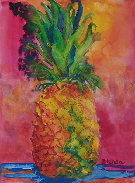 Wall Art - Painting - Hot Pink Pineapple by Blenda Studio