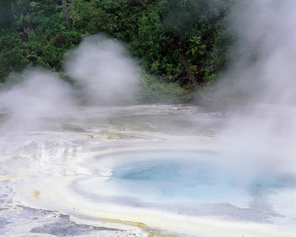 Geothermal Photograph - Hot Pool At The Orakei Korako Geothermal Spring by Simon Fraser/science Photo Library